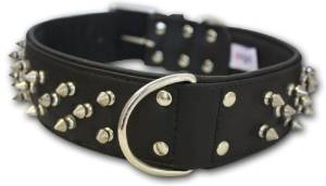 Spiked Studded Leather BullDog Collar
