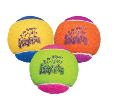 Squeakair Birthday Balls Dog Toy